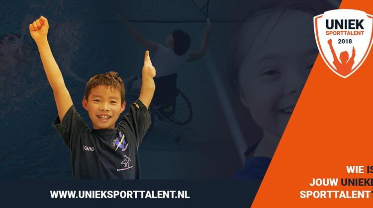 Verkiezing Uniek Sporttalent 2018 gestart! afbeelding nieuwsbericht