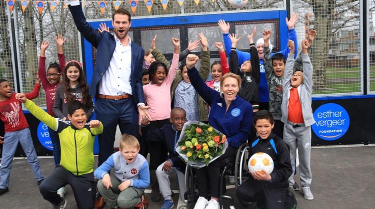 Rotterdam Charlois heeft eerste Esther Vergeer Foundation interactieve sportmuur afbeelding nieuwsbericht