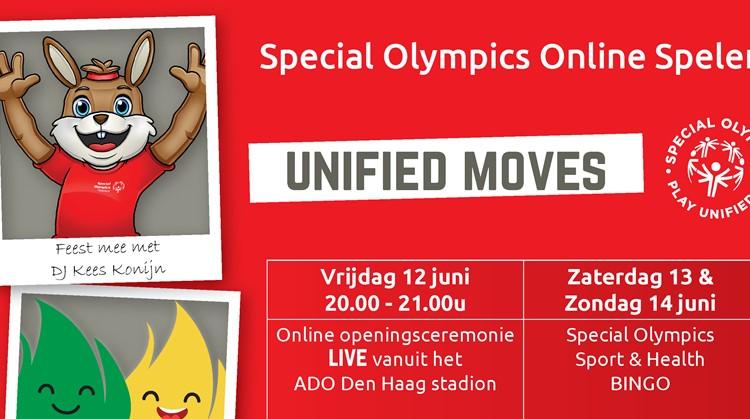 Doe dit weekend online mee met Unified Moves! afbeelding nieuwsbericht