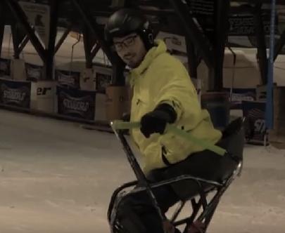 Nederlandse skilerares bedacht zit-snowboard afbeelding nieuwsbericht