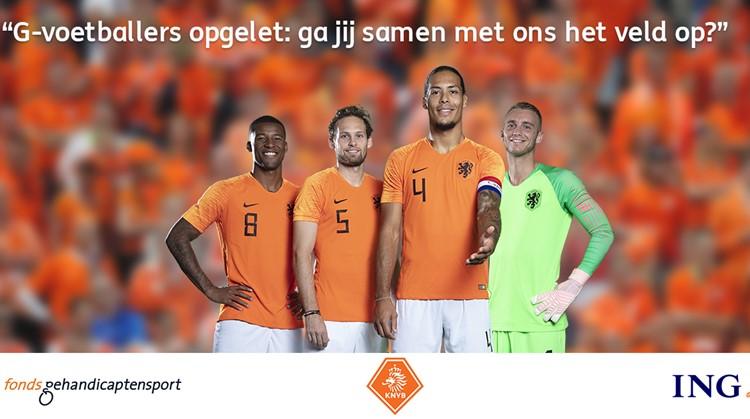 Nederlands elftal zoekt G-voetballers afbeelding nieuwsbericht