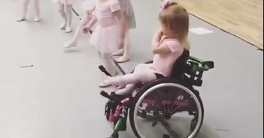 Afbeelding Dit balletmeisje laat zien wat meedoen is