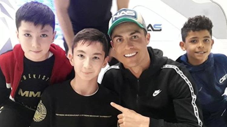 Ali voetbalt zonder benen met Ronaldo afbeelding nieuwsbericht