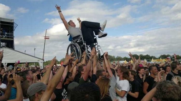 In je rolstoel van Pinkpop tot Sziget afbeelding nieuwsbericht