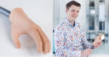 Afbeelding Deze handprothese kan dingen vastpakken
