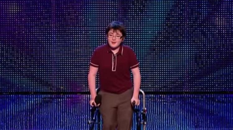 Jack Carroll (cerebrale parese) werd tweede bij Britain's Got Talent afbeelding nieuwsbericht
