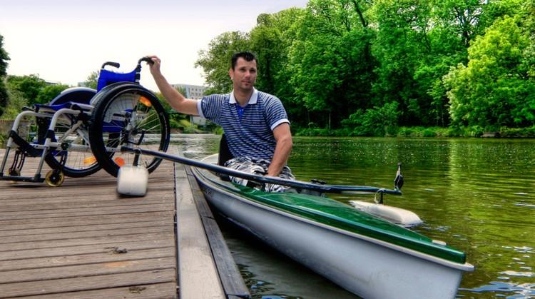 Peddelen zonder rolstoel in een kano afbeelding nieuwsbericht
