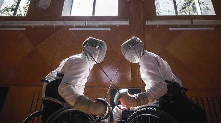 Sport van de week: rolstoelschermen afbeelding nieuwsbericht
