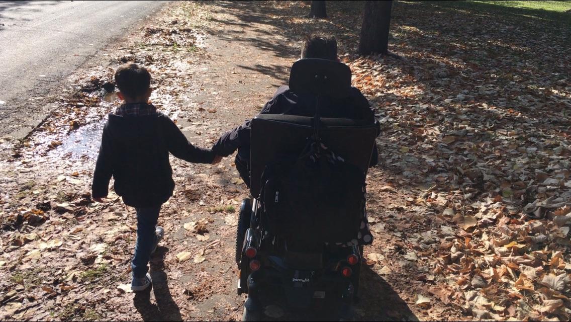 Foto Arjo met zijn zoon