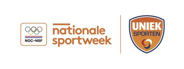 Logo Nationale Sportweek en Uniek Sporten