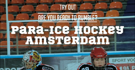 Try-Outs Amstel Tijgers Para Ice-hockey afbeelding nieuwsbericht