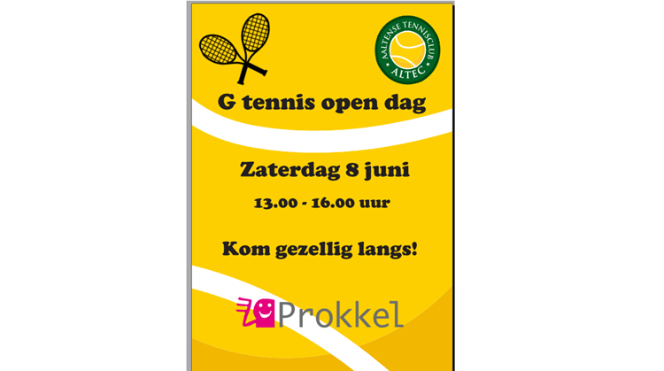G Tennis Open Dag afbeelding nieuwsbericht