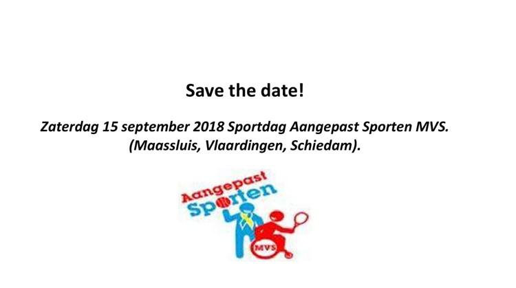 Save the date! afbeelding nieuwsbericht