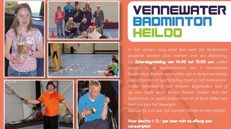 Badminton speel je gezellig in Heiloo afbeelding nieuwsbericht