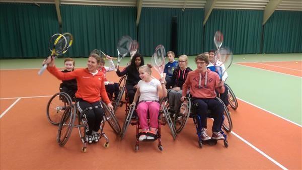 Landelijke Junior clinic dag rolstoeltennis 12 maart 2017 afbeelding nieuwsbericht
