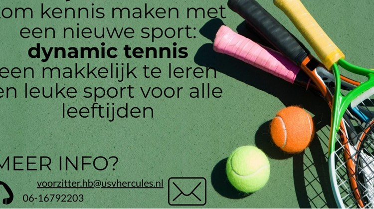 Dynamic Tennis van start bij USV Hercules in Utrecht afbeelding nieuwsbericht