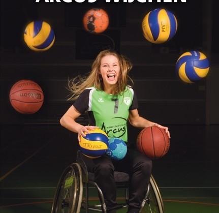 Ilse Arts van Nederlands rolstoelbasketbalteam speelt demo in Sportcentrum Arcus afbeelding nieuwsbericht