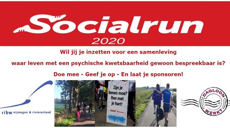 RIBW doet mee aan Socialrun 2020 afbeelding nieuwsbericht