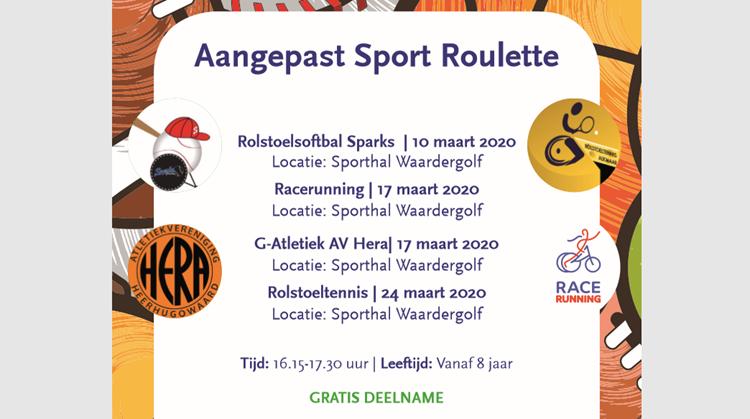 Vandaag Rolstoelsoftbal op het programma bij de Sport Roulette afbeelding nieuwsbericht