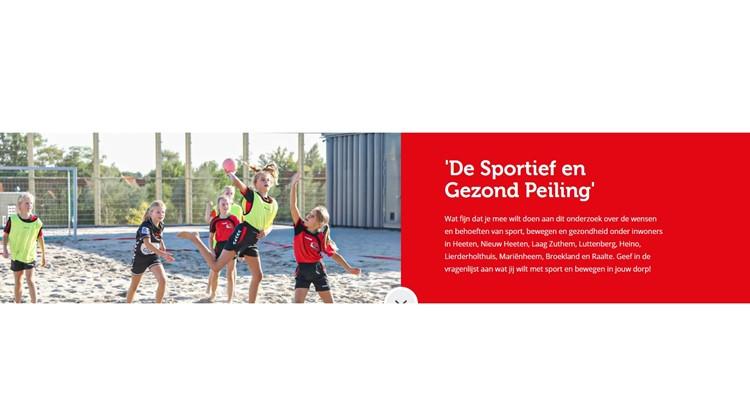 Sportief en Gezond peiling! Wat wil jij met sport, bewegen en gezondheid in jouw dorp? afbeelding nieuwsbericht
