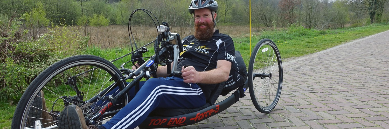 Erik van der Jagt, handbiker