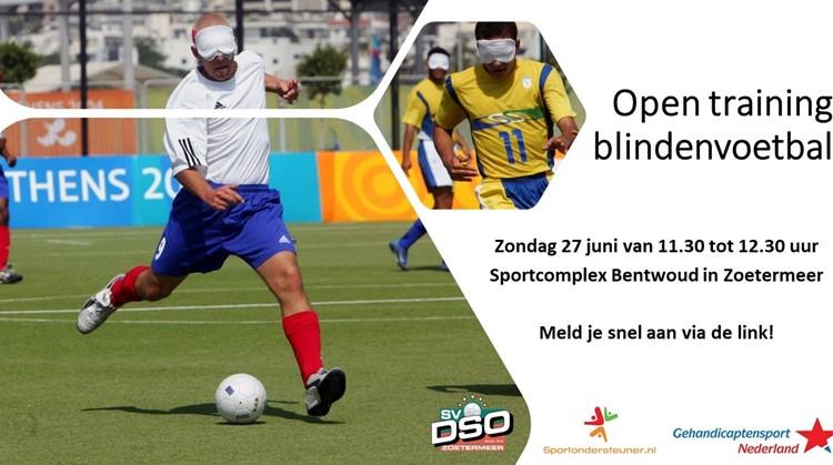 Open training blindenvoetbal Zoetermeer afbeelding nieuwsbericht