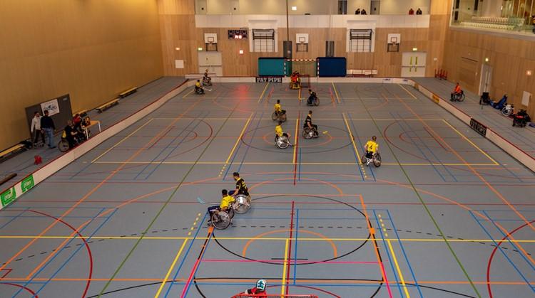 Unieke demonstratie rolstoelhockey afbeelding nieuwsbericht