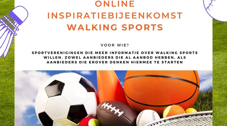 26 november online inspiratiebijeenkomst Walking Sports afbeelding nieuwsbericht