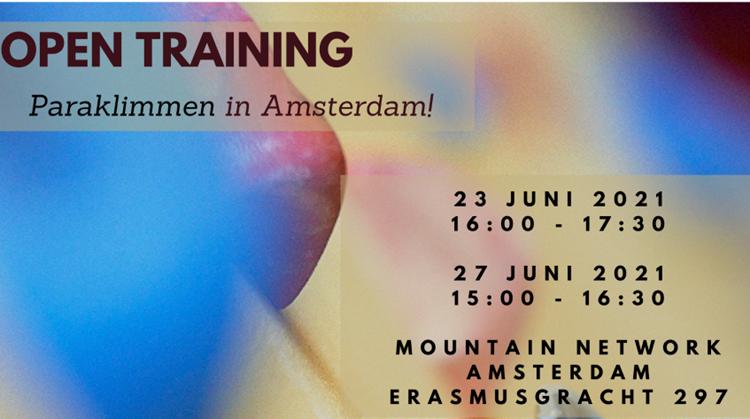Open paratraining klimhal Amsterdam - 23 en 27 juni afbeelding nieuwsbericht