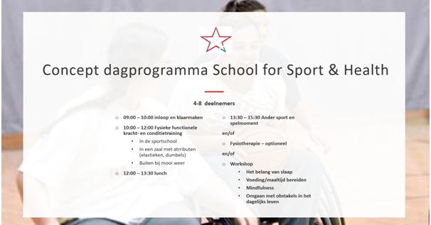 Gezocht: Enthousiaste deelnemers met motorische beperking voor School for Sport & Health Amsterdam afbeelding nieuwsbericht