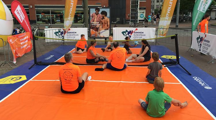 Promotie WK-zitvolleybal in Arnhem - Kronenburg/Presikhaaf afbeelding nieuwsbericht