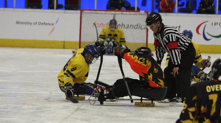 Sledge hockey (para ijshockey) op de IJsbaan in Haarlem afbeelding nieuwsbericht