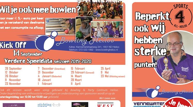 Kick-off Bowling seizoen Heiloo afbeelding nieuwsbericht