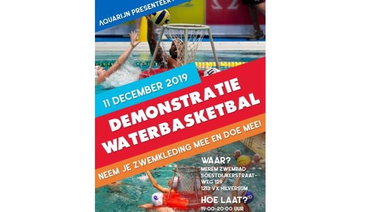 Demonstratie waterbasketbal (proefles in Hilversum op 11 december) afbeelding nieuwsbericht