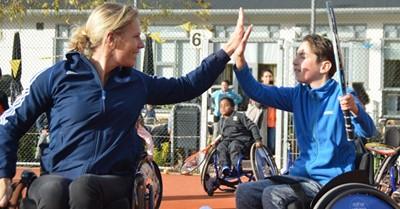 Gratis clinic rolstoeltennis Esther Vergeer Foundation afbeelding nieuwsbericht