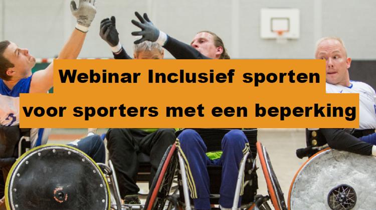 GEANNULEERD: Webinar Inclusief sporten voor mensen met een beperking afbeelding nieuwsbericht