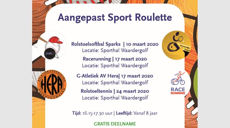 Aangepast Sport Roulette in Heerhugowaard afbeelding nieuwsbericht