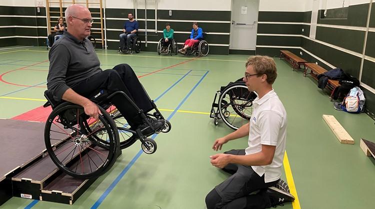 Training rolstoelvaardigheid is van start gegaan!  afbeelding nieuwsbericht