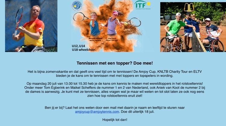 Kom jij Tennissen met Toppers? afbeelding nieuwsbericht