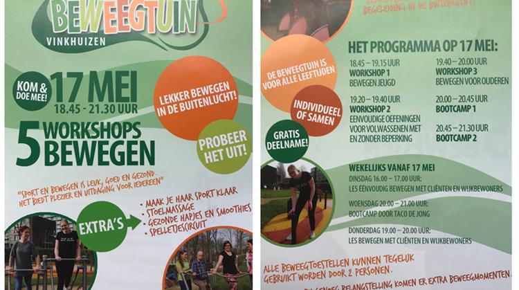 Workshops beweegtuin Vinkhuizen afbeelding nieuwsbericht
