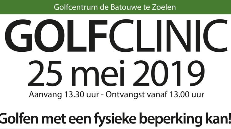 Golfclinic voor alle mensen met een fysieke beperking! afbeelding nieuwsbericht