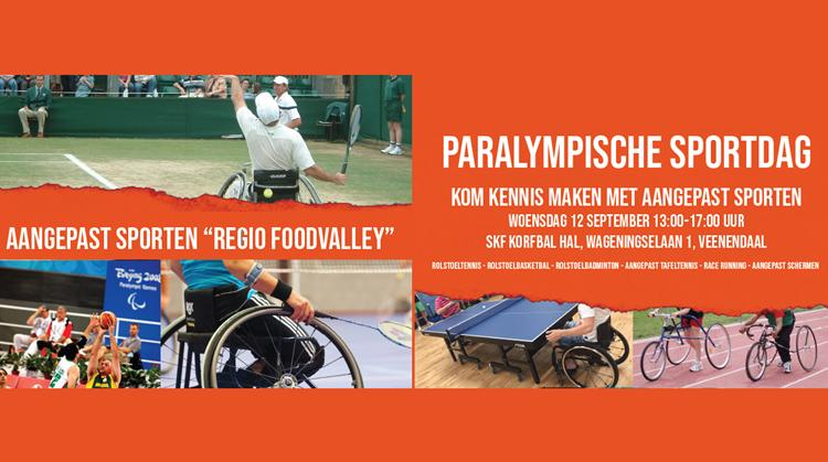 Woensdag 12 september Paralympische Sportdag te Veenendaal afbeelding nieuwsbericht