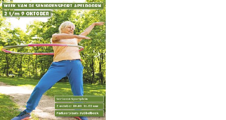 NIEUW: Week van de Seniorensport Apeldoorn 2 t/m 9 oktober afbeelding nieuwsbericht
