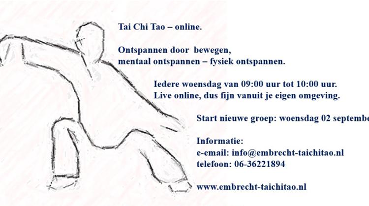 Nieuw aanbod: Tai Chi Tao - live online vanuit je eigen omgeving! afbeelding nieuwsbericht