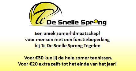 Speciaal zomerlidmaatschap voor G-tennissers in coronatijd! afbeelding nieuwsbericht