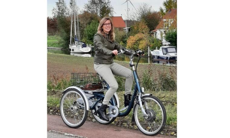 Vivian, fietser en wandelaar