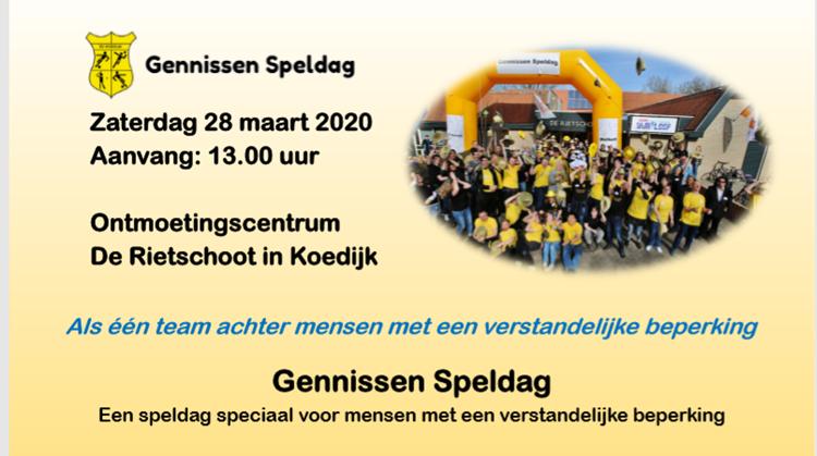 Gennissen Speldag op 28 maart!! afbeelding nieuwsbericht
