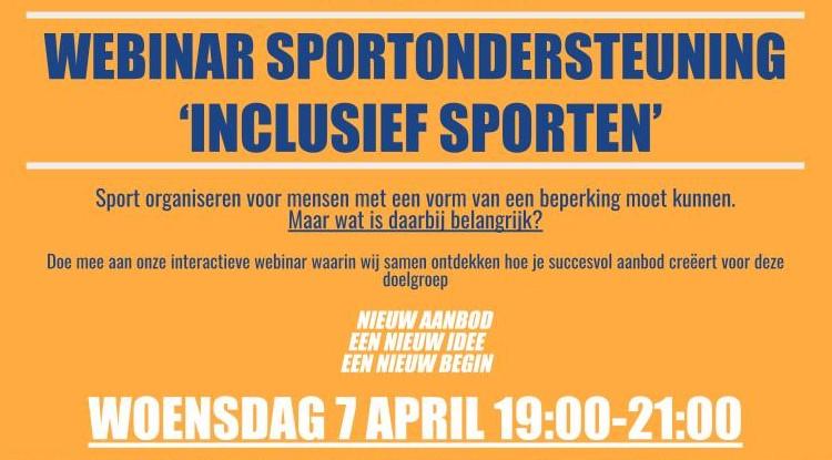 Webinar Sportondersteuning Inclusief sporten afbeelding nieuwsbericht