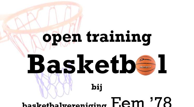 Open training Basketbal bij EEM'78! afbeelding nieuwsbericht