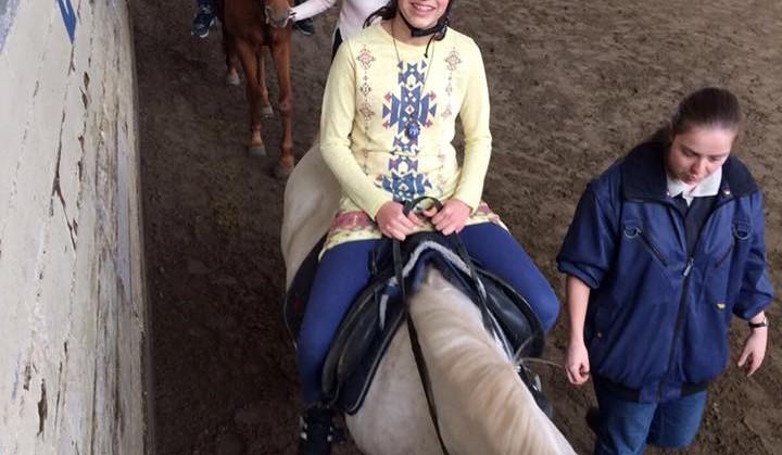 Leerlingen met visuele beperking ervaren omgang met paard tijdens NLdoet. afbeelding nieuwsbericht